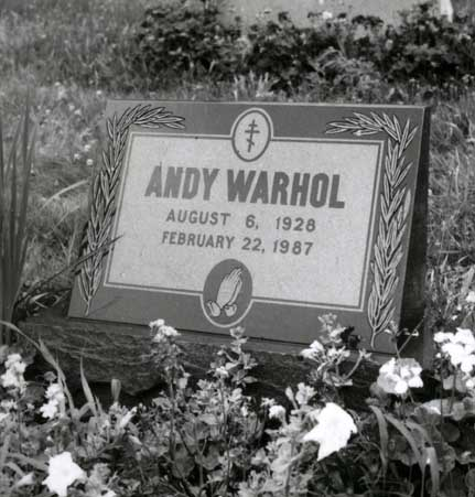 Andy Warhol's Grave - Bethal Park PA 1990